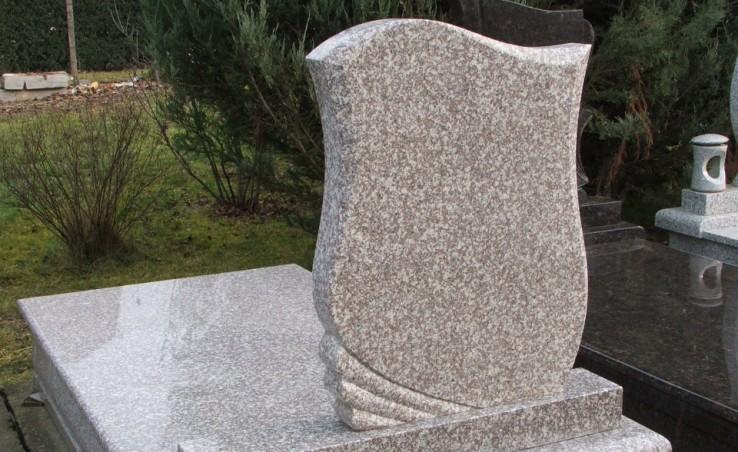 szürke gránit sírkő